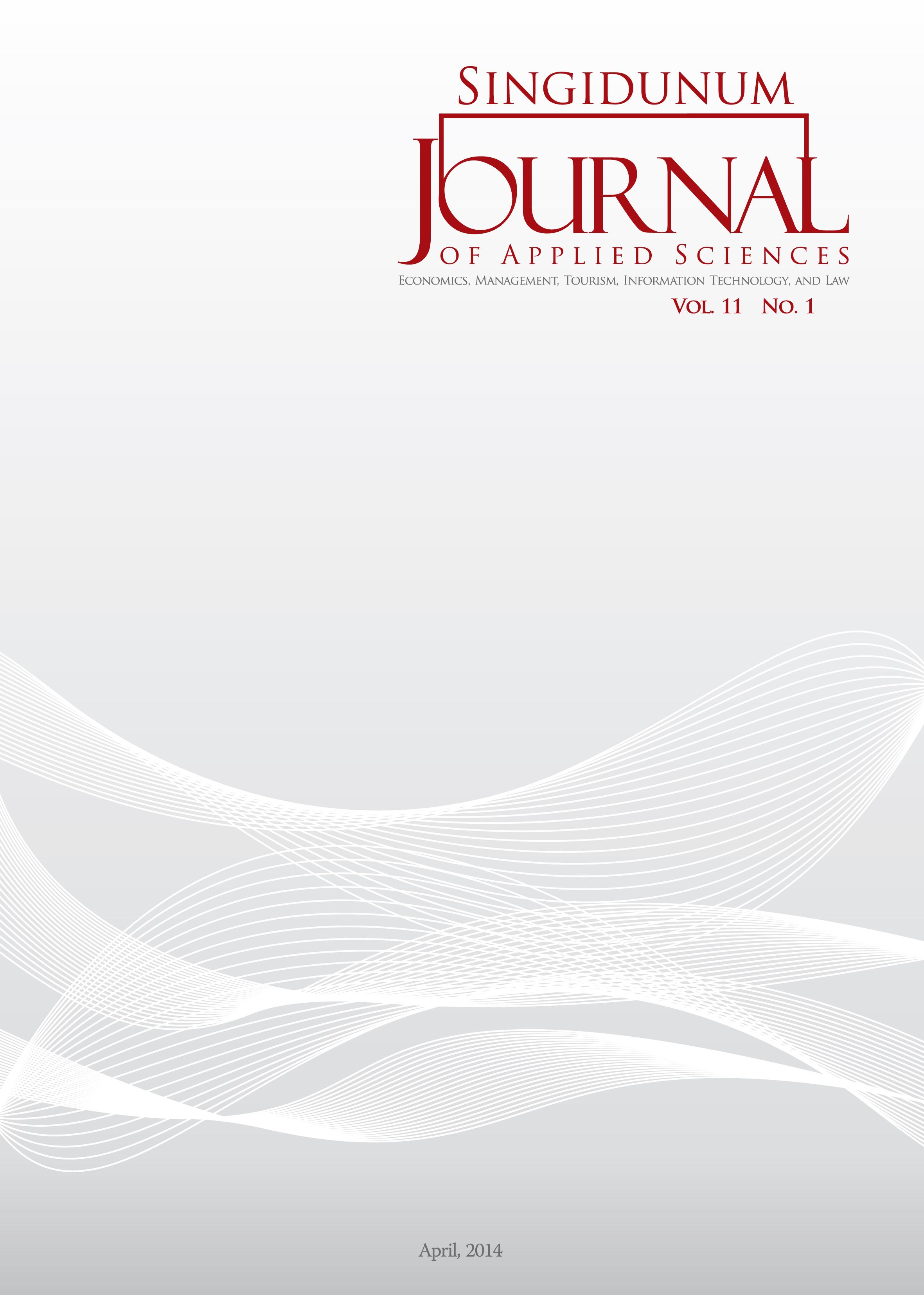 Singidunum Journal of Applied Sciences