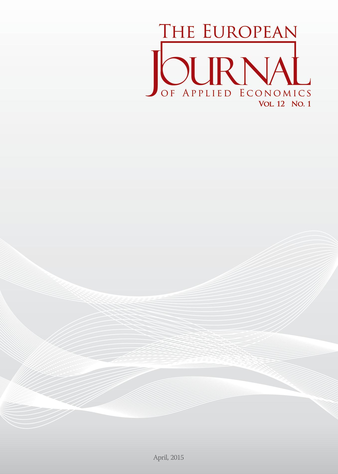The European Journal of Applied Economics 12(1)